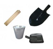 лопаты, ведра, держатели для лопат
