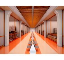 Ячеистый потолок «грильято» КР-15