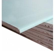 Гипсокартон влагостойкий стеновой стеновой 2500x1200x12.5 мм ( код товара 2895)